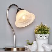 Lampenwelt gebogen tafellamp Mialina, E27 LED