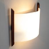 Lampenwelt Wandlamp Filippa, 31 cm, bruin