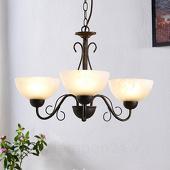 Lampenwelt Mohija - romantische pendellamp, 3 lichtbronnen