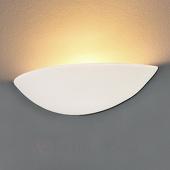 LED Wandlamp PALE van gips en beschilderbaar