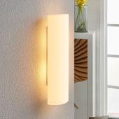 Lampenwelt Witte glazen wandlamp Ophelia