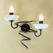 ORION Wandlamp Mauro met scavo-glas, 2-lamps