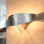 Selene Zilveren design-wandlamp Scudo