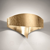 Selene Gouden design-wandlamp Scudo