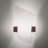Domus Design-wandlamp PLAN B met donker hout