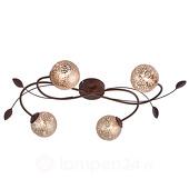 Plafondlamp GRETA Roest 4 Lichts