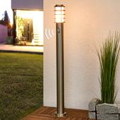 Lampenwelt Sensor-tuinpadverl. Selina van roestvrij staal