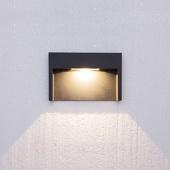 Lampenwelt Mitja buitenwandlamp met led voor inbouw, IP65