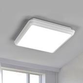 Lampenwelt Vierkante LED plafondlamp Augustin, 25 cm