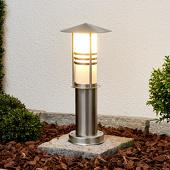 Lampenwelt Decoratieve RVS-sokkellamp Erina