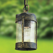 ORION Zwart-gouden hanglamp Leonard voor buiten