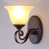 Lampenwelt Wandlamp Svera in landelijke stijl