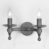 Elstead Smeedijzeren wandlamp WARWICK, grafiet