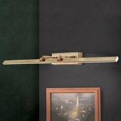 ORION LED schilderijlamp Suren antiek messing, 79,5 cm