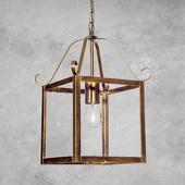 ORION Prachtige hanglamp FALOTTA, rechthoekig, 1-l.