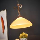 Lam 1-lichts hangp Luca in landhuisstijl