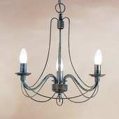 ORION 3-lichts hanglamp CLARA in landhuisstijl