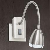 ORION LED stopcontactlamp Manvel met schakelaar, nikkel