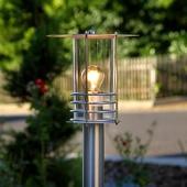 Lampenwelt Aantrekkelijke tuinpadverl. Miko, roestvr. staal