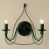 Kögl Wandlamp FILO, 2-lichts, groen-antiek