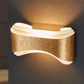Selene Chique design-wandlamp Ionica, goudkleurige band