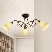 3-lichts plafondp Michele in landhuisstijl