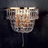 ORION Goudkleurige kristallen wandlamp SHERATA