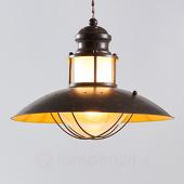 Lampenwelt Rustieke pendellamp Louisanne in bruin