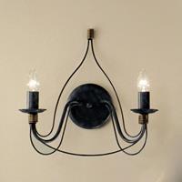 Kögl Wandlamp FILO, 2-lichts, blauw-zwart