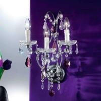 ORION Antiek-zilveren wandlamp ELIARA