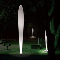 Linea Light Witte design-vloerlamp PEGGY voor buiten, E27