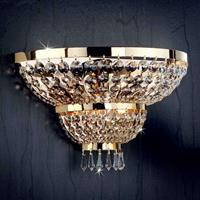 ORION Wandlamp SHERATON 24k verguld, 3-lichts