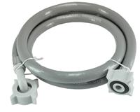 Sub wasmachine toevoerslang rechtsxhaaks met kunststof wartel 150 cm