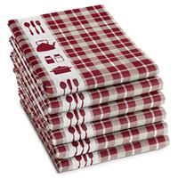 DDDDD Theedoek Kitchen Red (6 stuks)