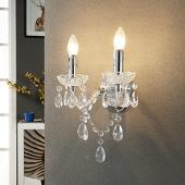 lampenwelt Merida - elegante wandlamp, tweeflammig