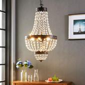 lampenwelt Fascinerende hanglamp Jorve met kristal