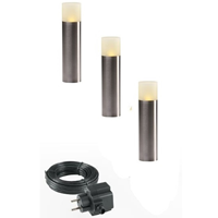 Garden Lights Oak Sokkel 12V Bundelset 3 st.