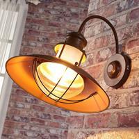 Lampenwelt Villa-wandlamp Louisanne in roestbruin