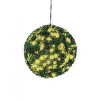 EUROPALMS Boxwood ball with yellow LEDs, 40cm