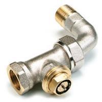 Comap radiatorafsluiter uitvoering staartstuk/binnendraad recht met bocht thermostatisch voorbereid