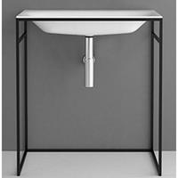 Bette Lux Shape zwarte Frame voor wastafel 60cm wit
