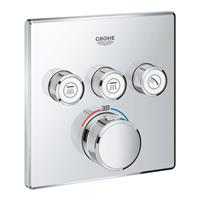 Grohe Grohtherm SmartControl afdekset douchethermostaat met omstel 3x vierkant, chroom