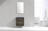 Lambinidesigns Trend Stone Compact badmeubel greeploos 60cm Century Oak