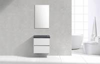 Lambinidesigns Trend Stone Compact badmeubel greeploos 60cm Wit