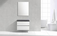 Lambinidesigns Trend Stone Compact badmeubel greeploos 80cm Wit