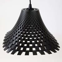 Tagwerk Design-hanglamp Flechtwerk in trechtervorm