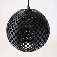 Tagwerk Effectieve hanglamp Flechtwerk in grafiet
