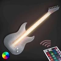 Tagwerk Stoere LED wandlamp Gitarre van de 3D-printer