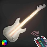 Tagwerk Gitarre - witte LED wandlamp, 3D-print