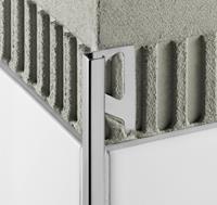 Schluter Quadec-Ae tegelprofiel 8 mm. 300 cm. aluminium mat mat